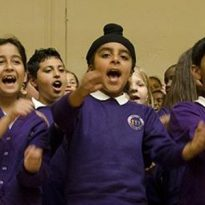 Schoolchildren celebrate Hounslow at summer singing festivals