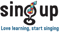 Sing up music logo